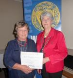 President Margie Russon SI Mt Gambier with SISA president Di Potter