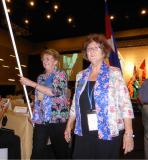 SI Australia National Reps Anne Sheehan and Annette Korzeba at Kuching