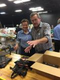 Michelle and Michael at book packing day 2017