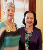 President Di Potter SISA Patron Mrs Le at Children\'s Week